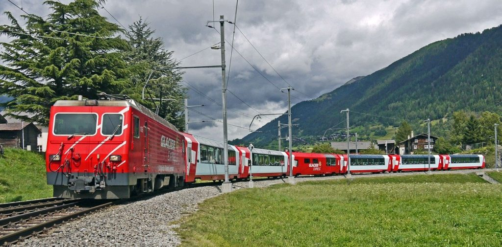švýcarsko - glacier express